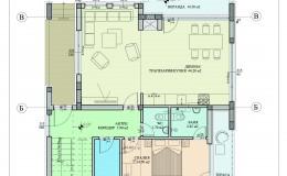 Разпределение-първи-етаж-еднофамилна-къща-червен