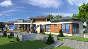 Архитектурно проектиране на едноетажна еднофамилна къща