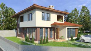 проект на двуетажна еднофамилна къща