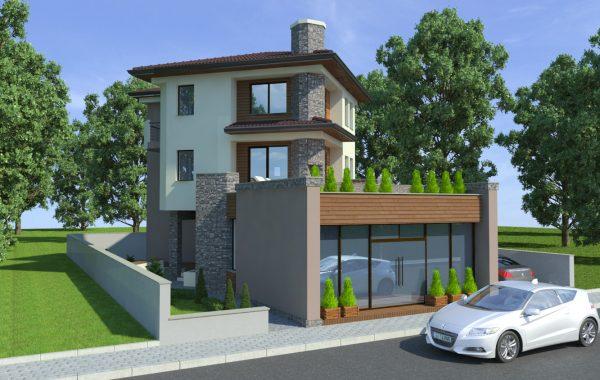 Eднофамилна къща с търговски обект
