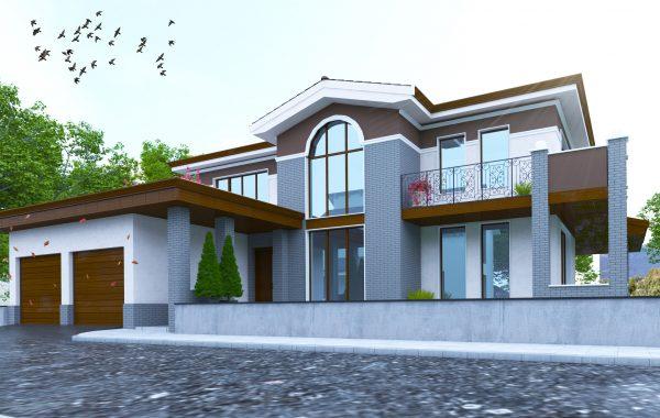 Еднофамилна къща с гараж
