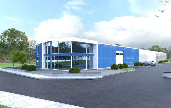 Склад за промишлени стоки с офисна част в Асеновград